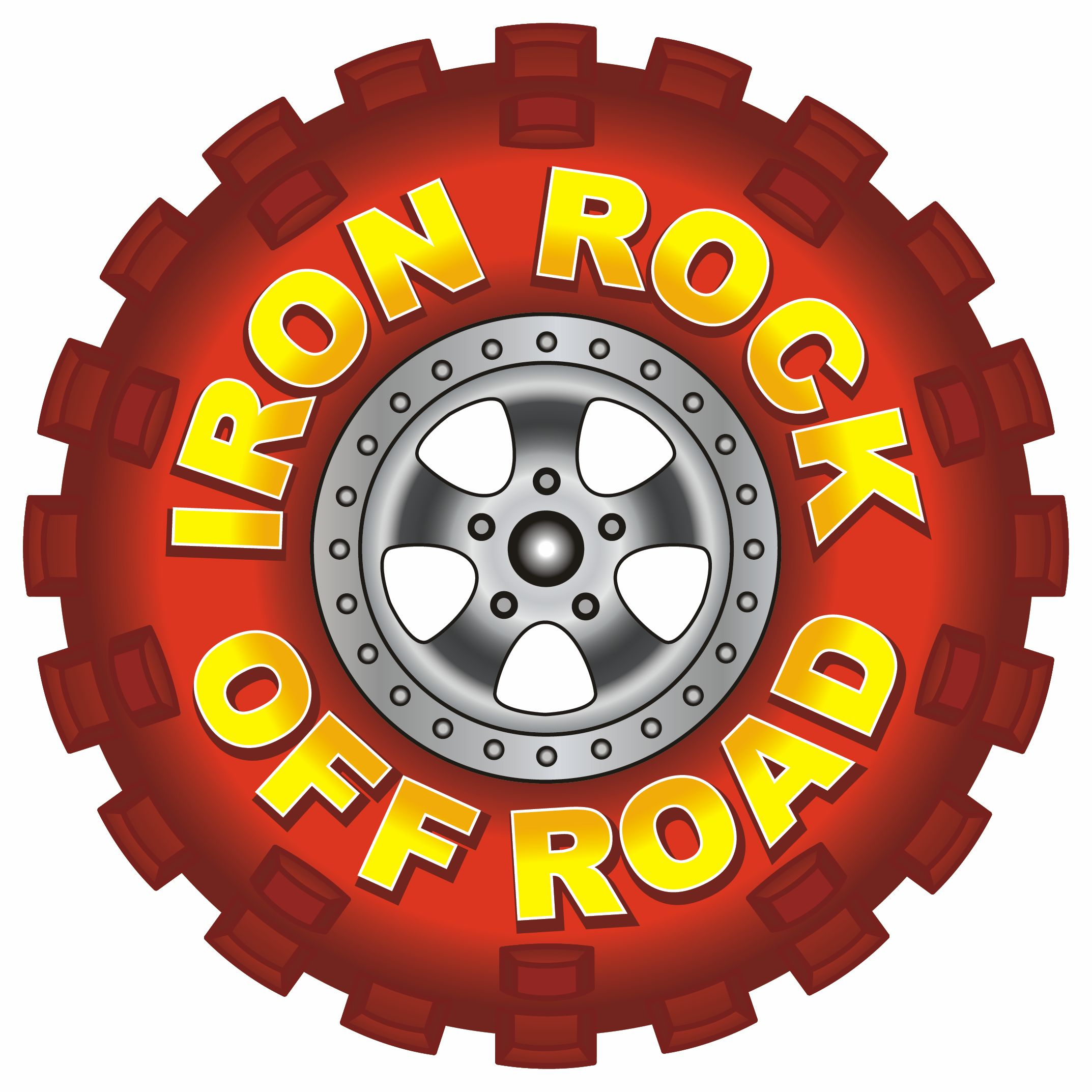 "Iron Rock Off Road 4"" Tire Logo Decals"