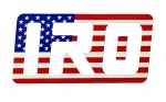 "IRO 4"" Patriotic Decal"